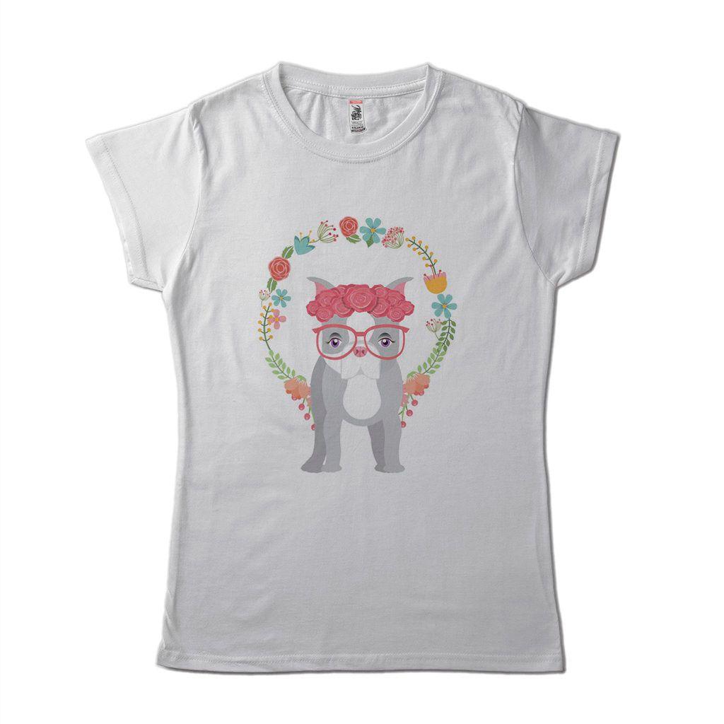 blusa feminina Pug fofo Cachorro Pet Pop Art branca algodao