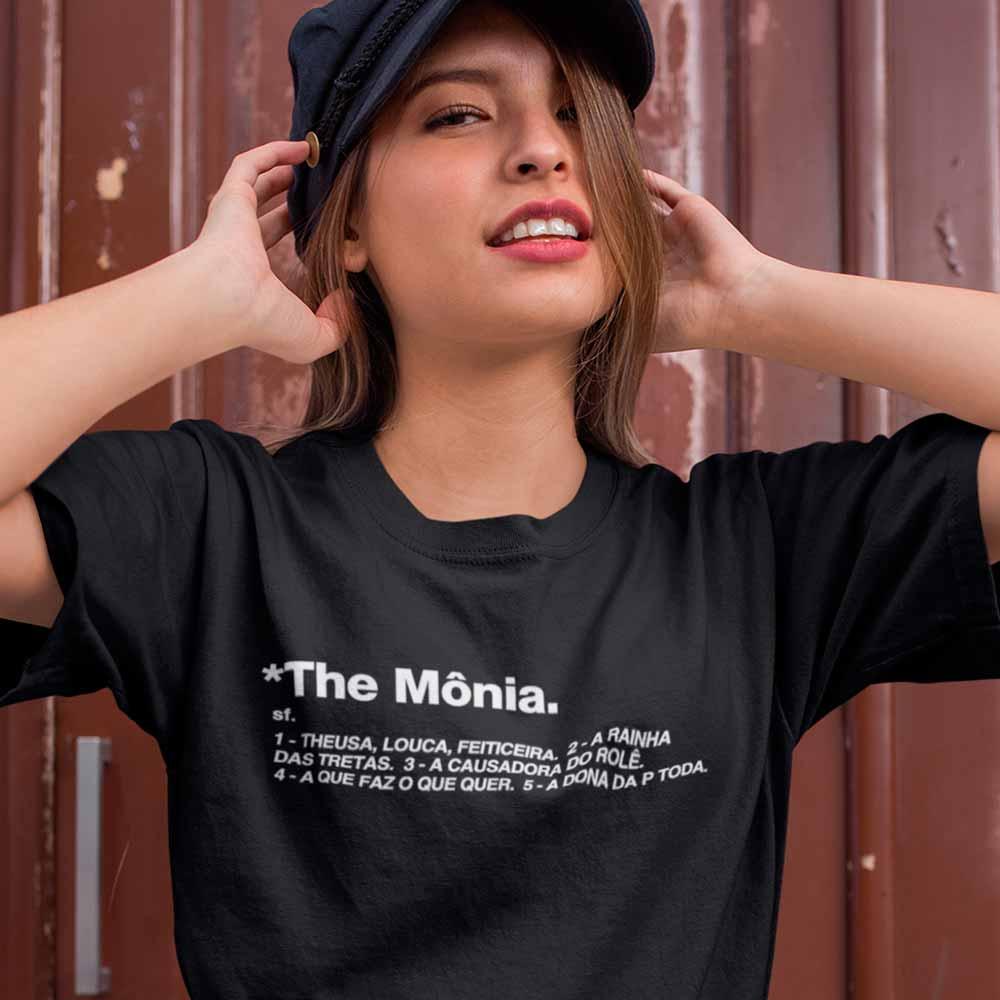 Blusa Feminina The Monia Manga Curta Decote Redondo Preta