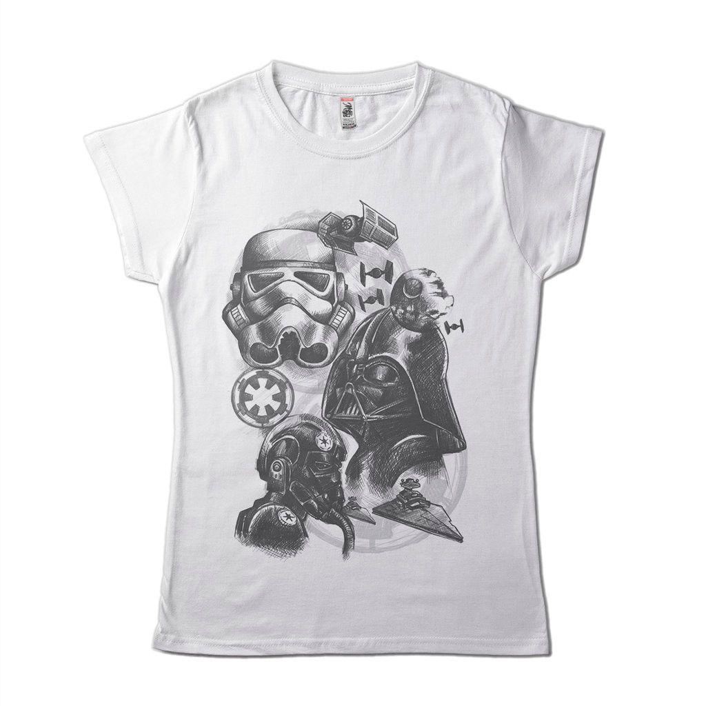 Blusa Feminina Trooper Camiseta Star Wars Camisa Clone