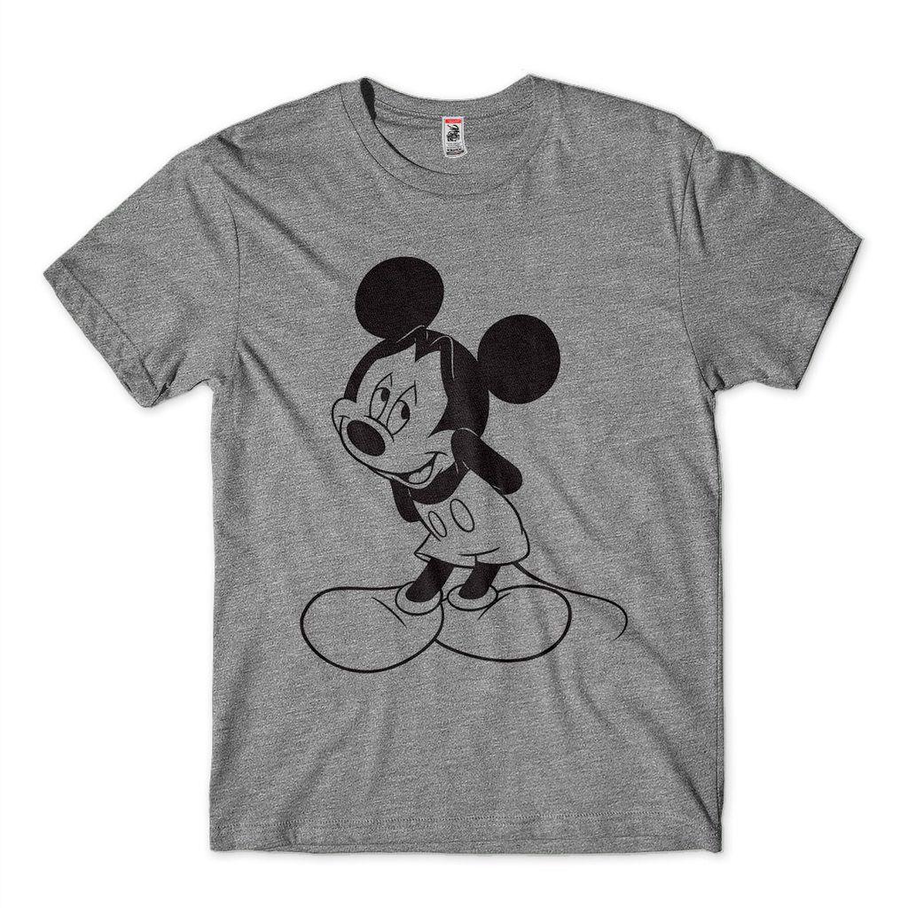 Blusa Masculina  Estampa Mickey Timido Cinza