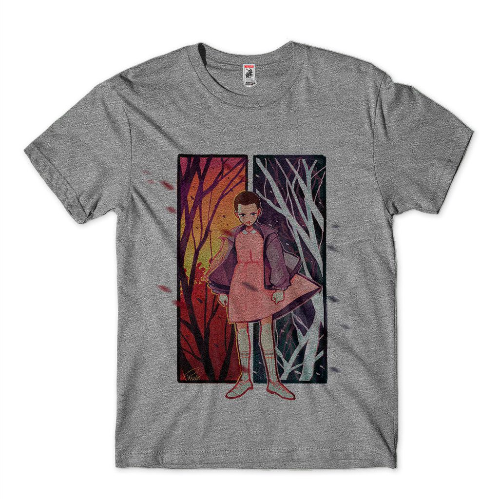 Blusa Stranger Things Eleven Masculina Cinza Sublimacao