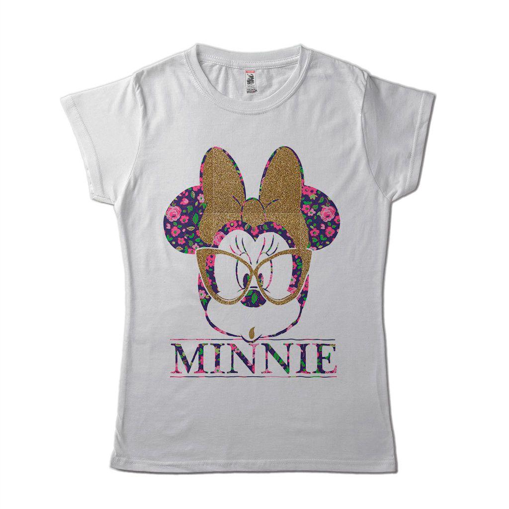 Blusa T-Shirt Minnie De Oculos Geek Estampada