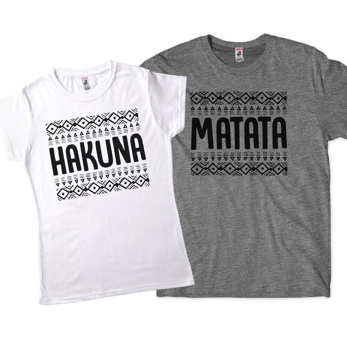 blusas iguais para casal de namorados rei leao hakuna matata