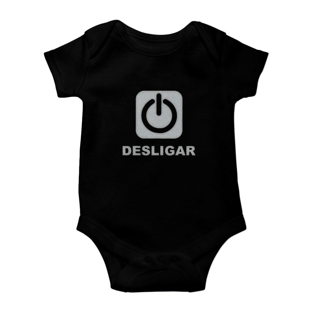 body bebe divertido desligar unissex algodao preto (cópia)