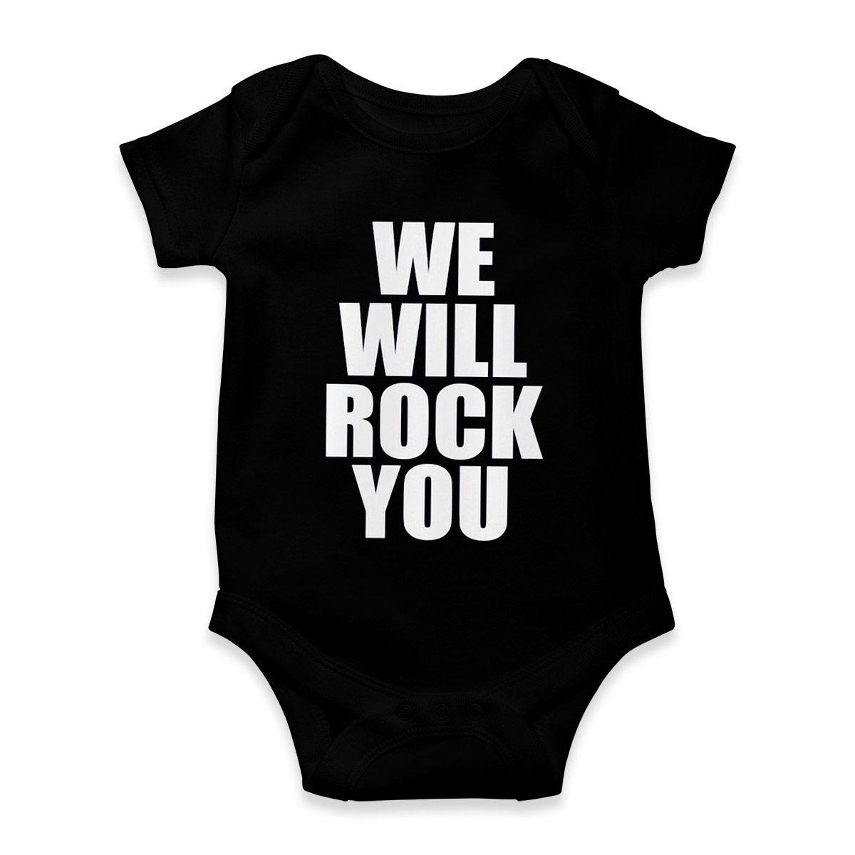 body bebe preto rock engracada we will rock you