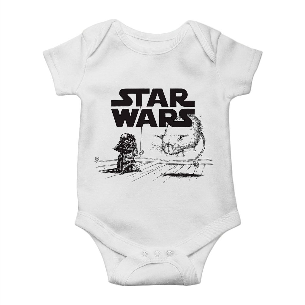 body bebe star wars darth vader divertido unissex
