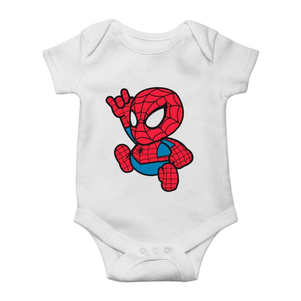 body de bebe homem aranha super herois divertido