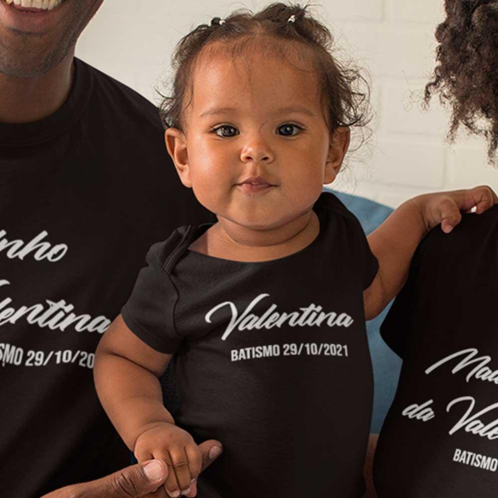 Body de Bebê Personalizado Batizado Batismo Padrinhos