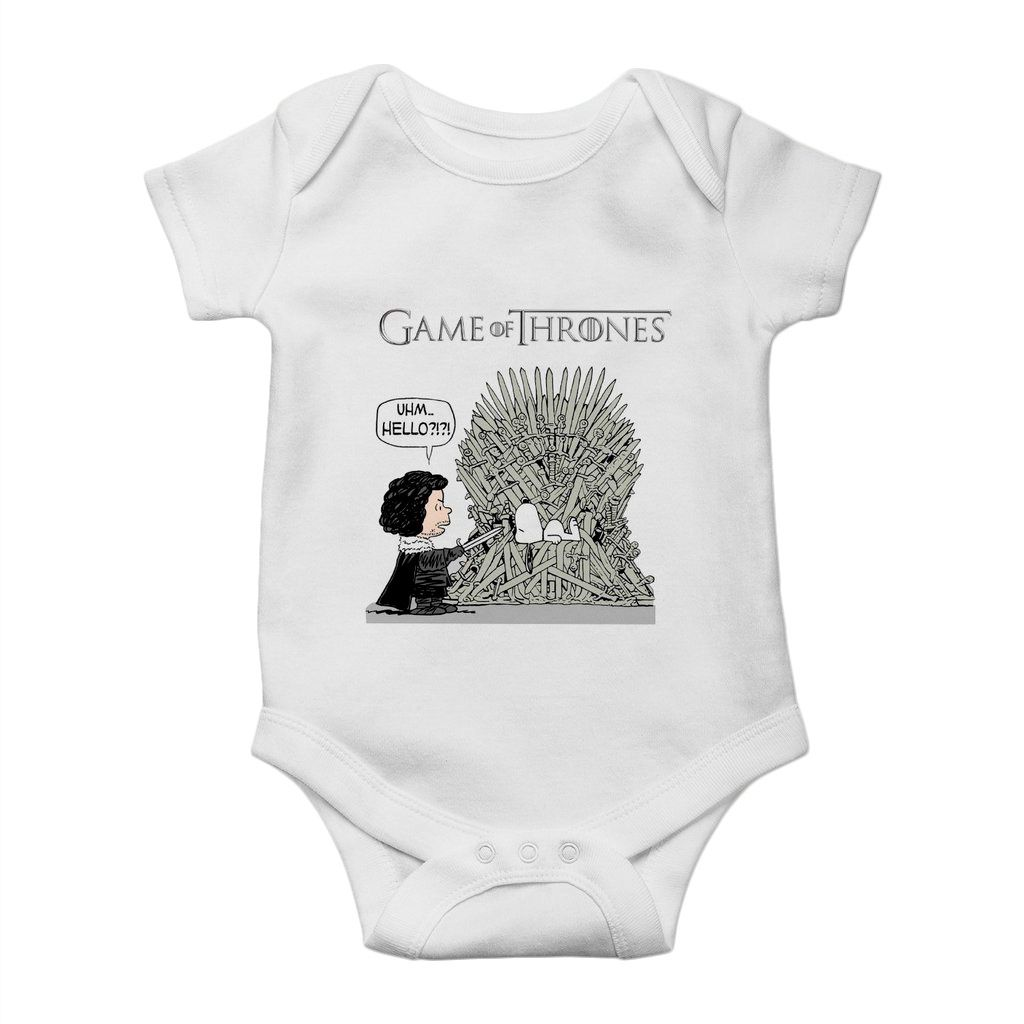 body divertido bebe snoopy game of thrones unissex