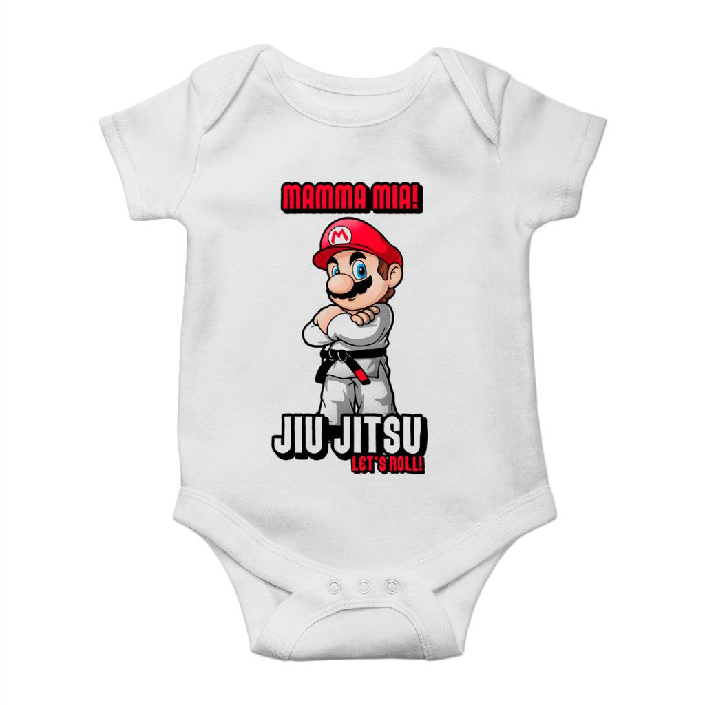 body divertido mario bross jiu jitsu unissex