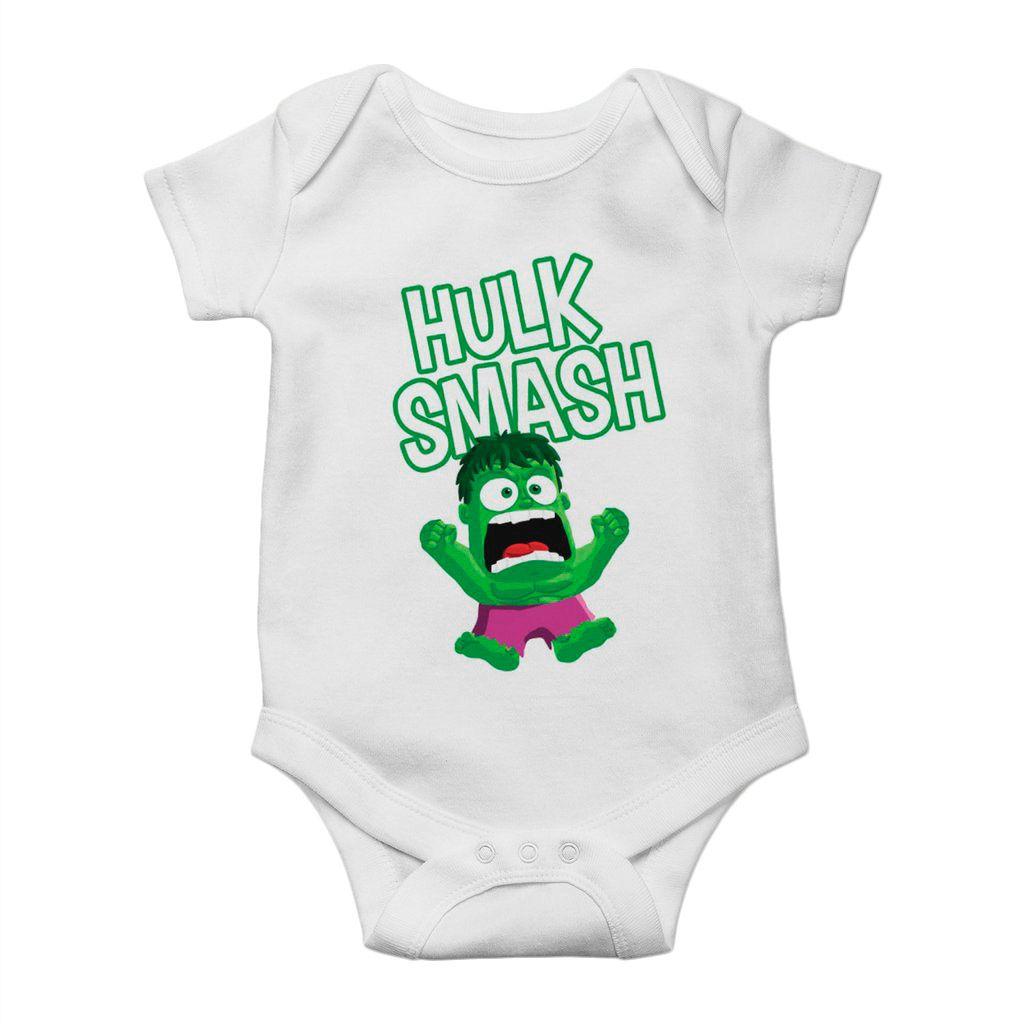 body divertido para bebe hulk avengers unissex