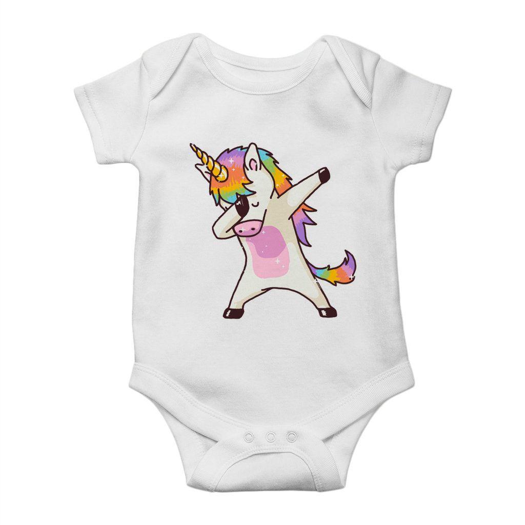 body divertido unicornio dab estampado unissex