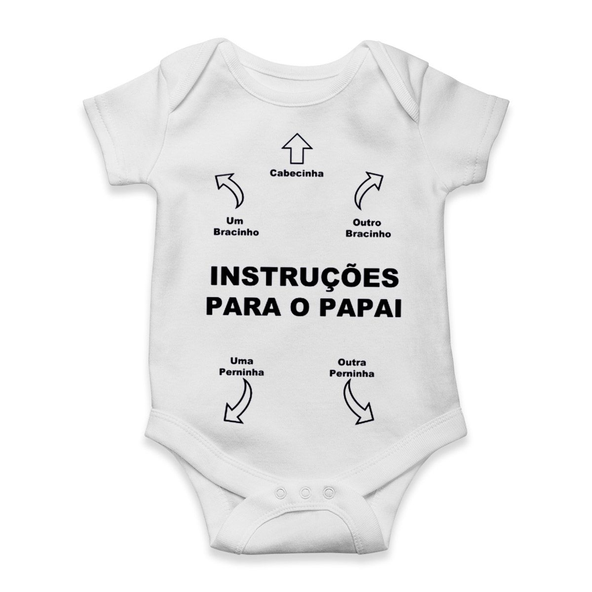 body manual de instrucoes divertido para bebe
