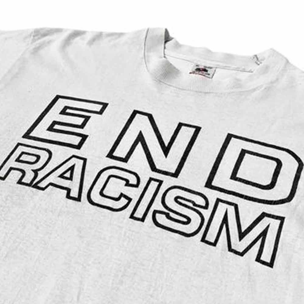 camisa acabe com o racismo cinza