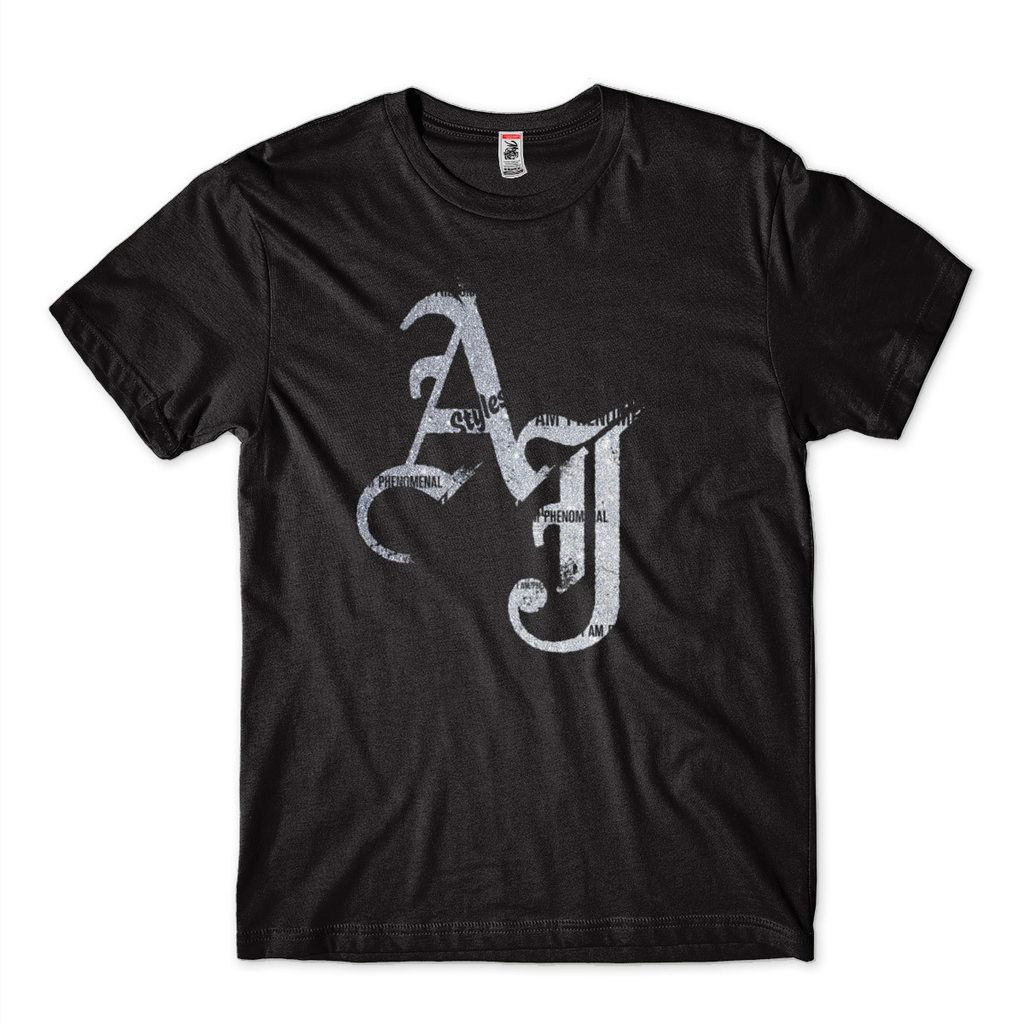 Camisa AJ Styles Prateado Pro Wrestling Star Bullet Club
