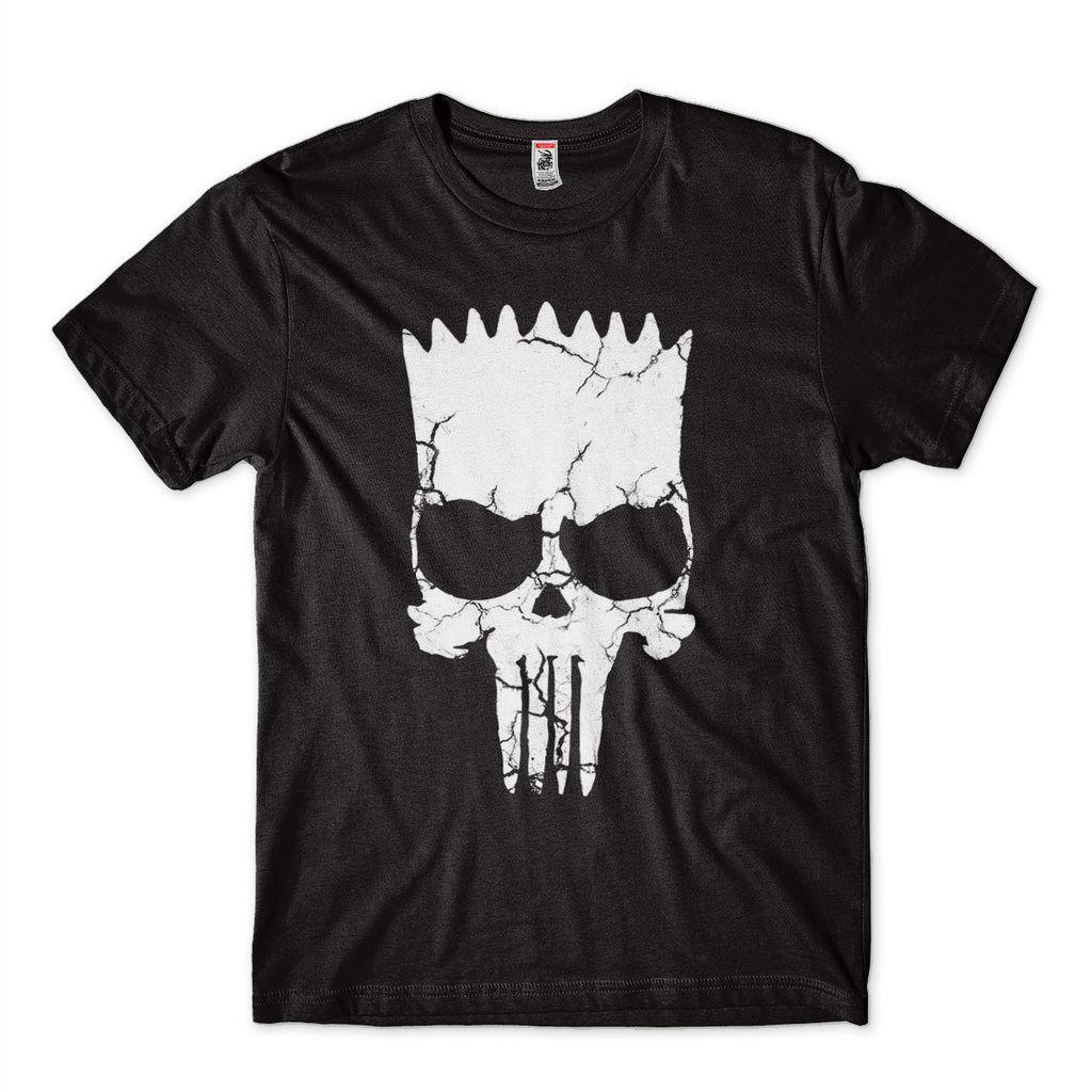 Camisa Bart Simpson Vingador Punisher Preta