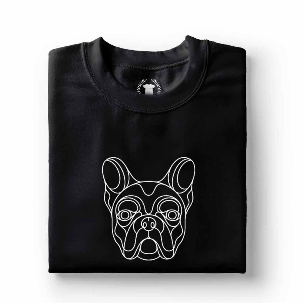 camisa bulldog frances preta