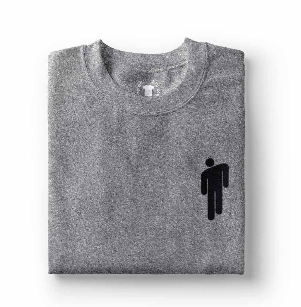 camisa Camiseta Billie Eilish Blohsh cinza