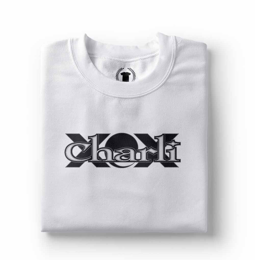 camisa Camiseta charli xcx branca