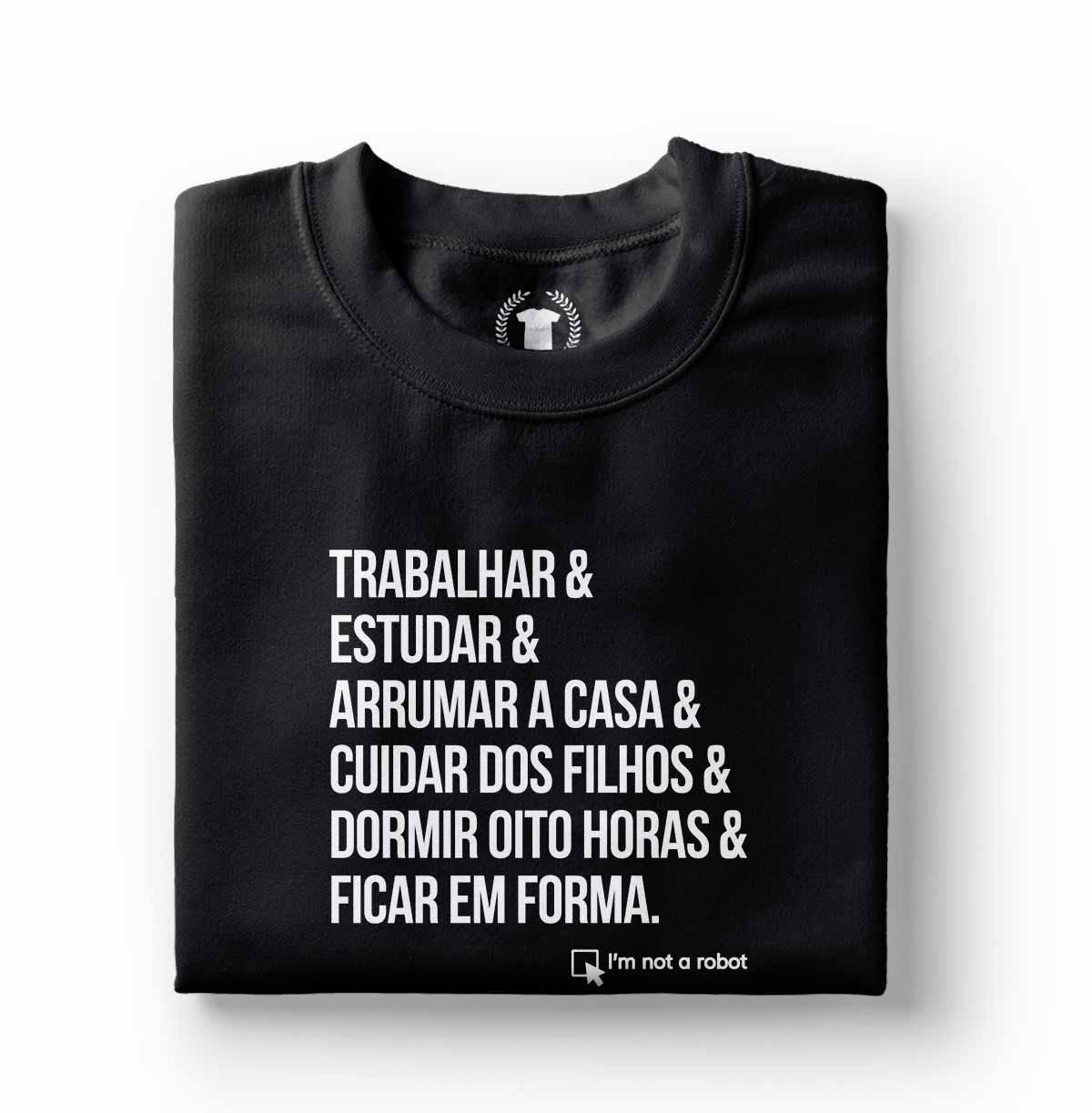 camisa camiseta feminina estampa divertida not a robot