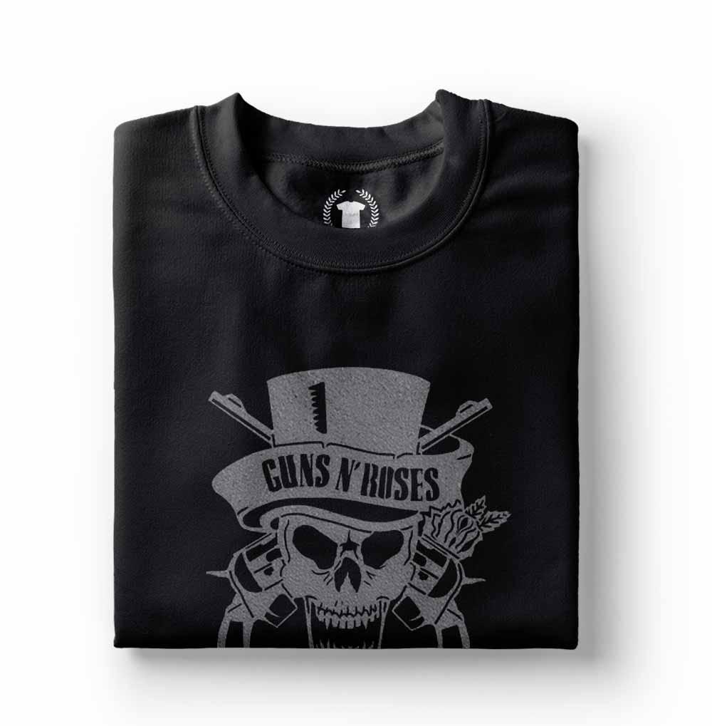 camisa camiseta guns n roses caveira prateada