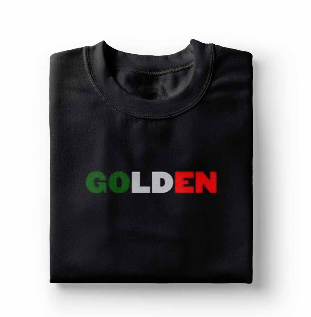 camisa Camiseta Harry Styles Golden Preta