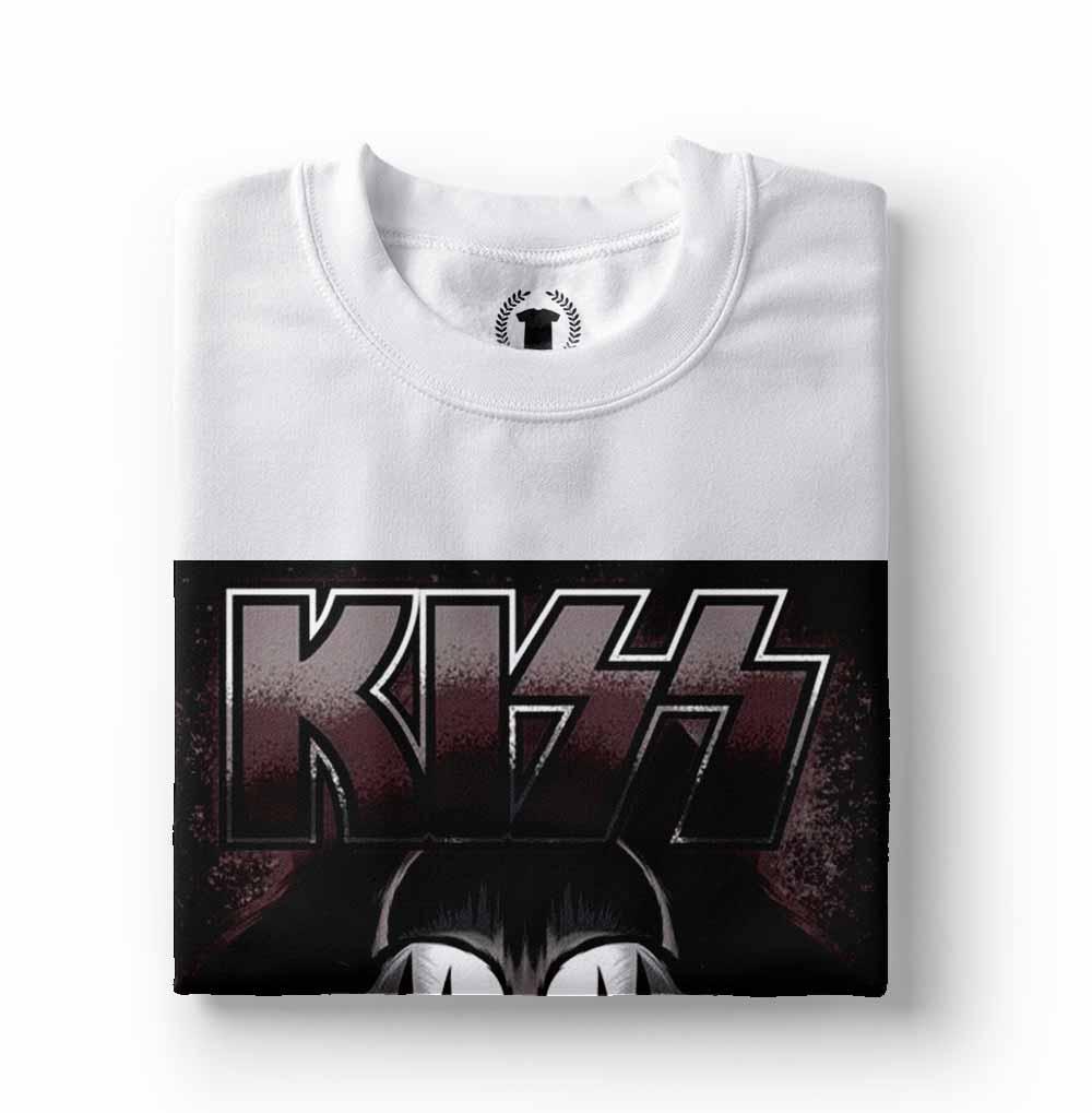 camisa camiseta kiss jim simmons branca