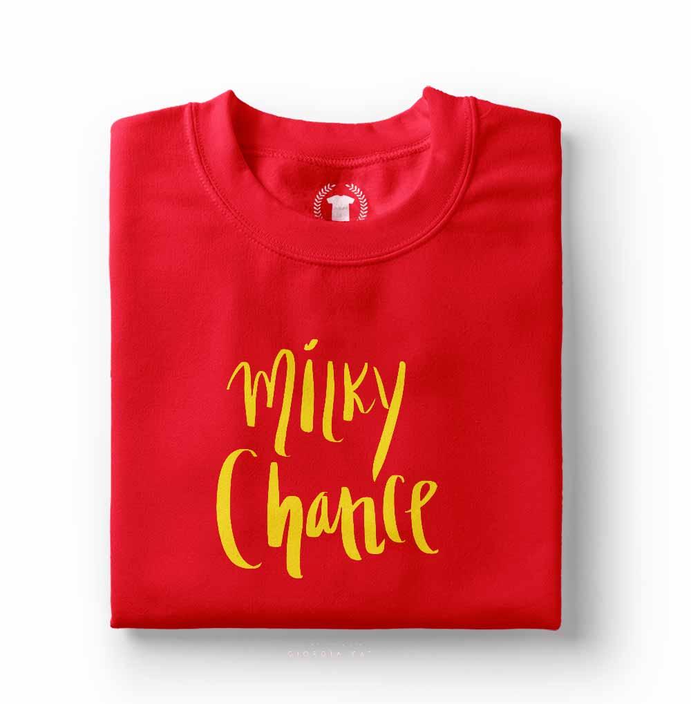camisa camiseta milky chance vermelha