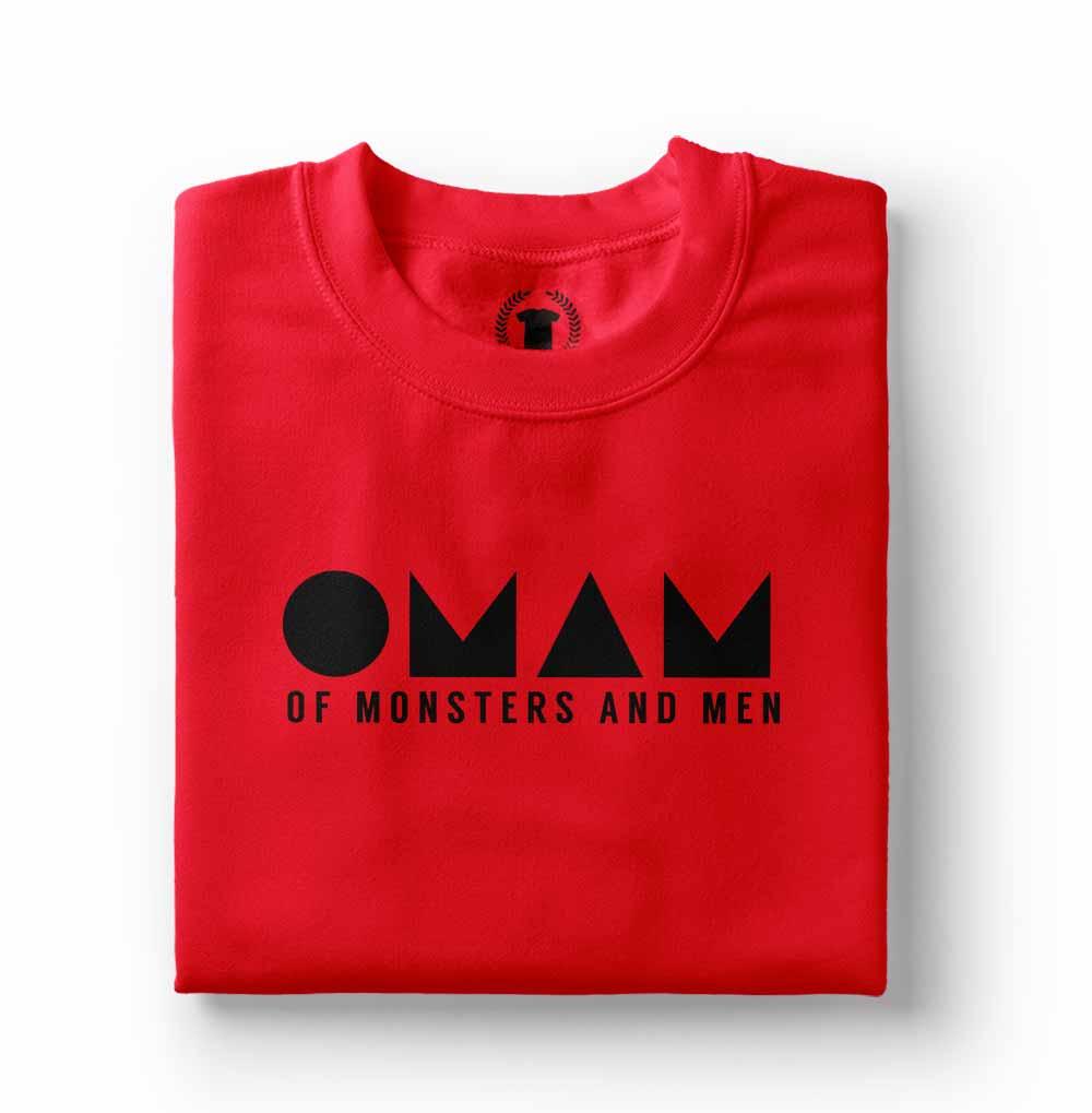 camisa Camiseta Of Monsters and Men vermelha