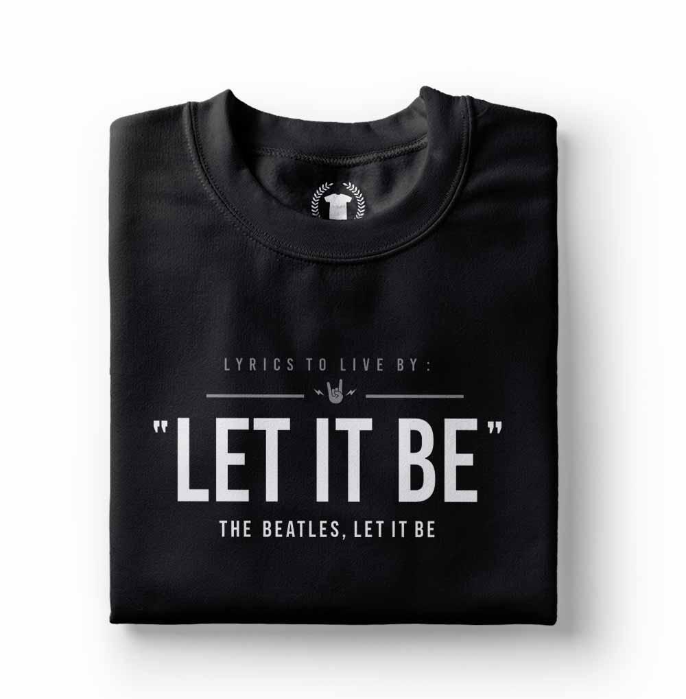 camisa camiseta the beatles let it be frases preta