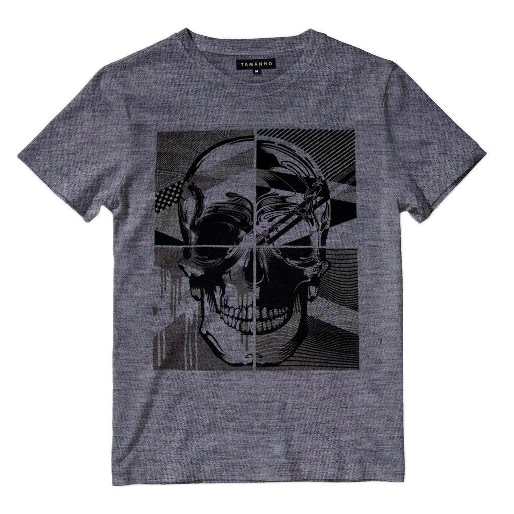 Camisa Caveira Estampada Masculina Camiseta Barata