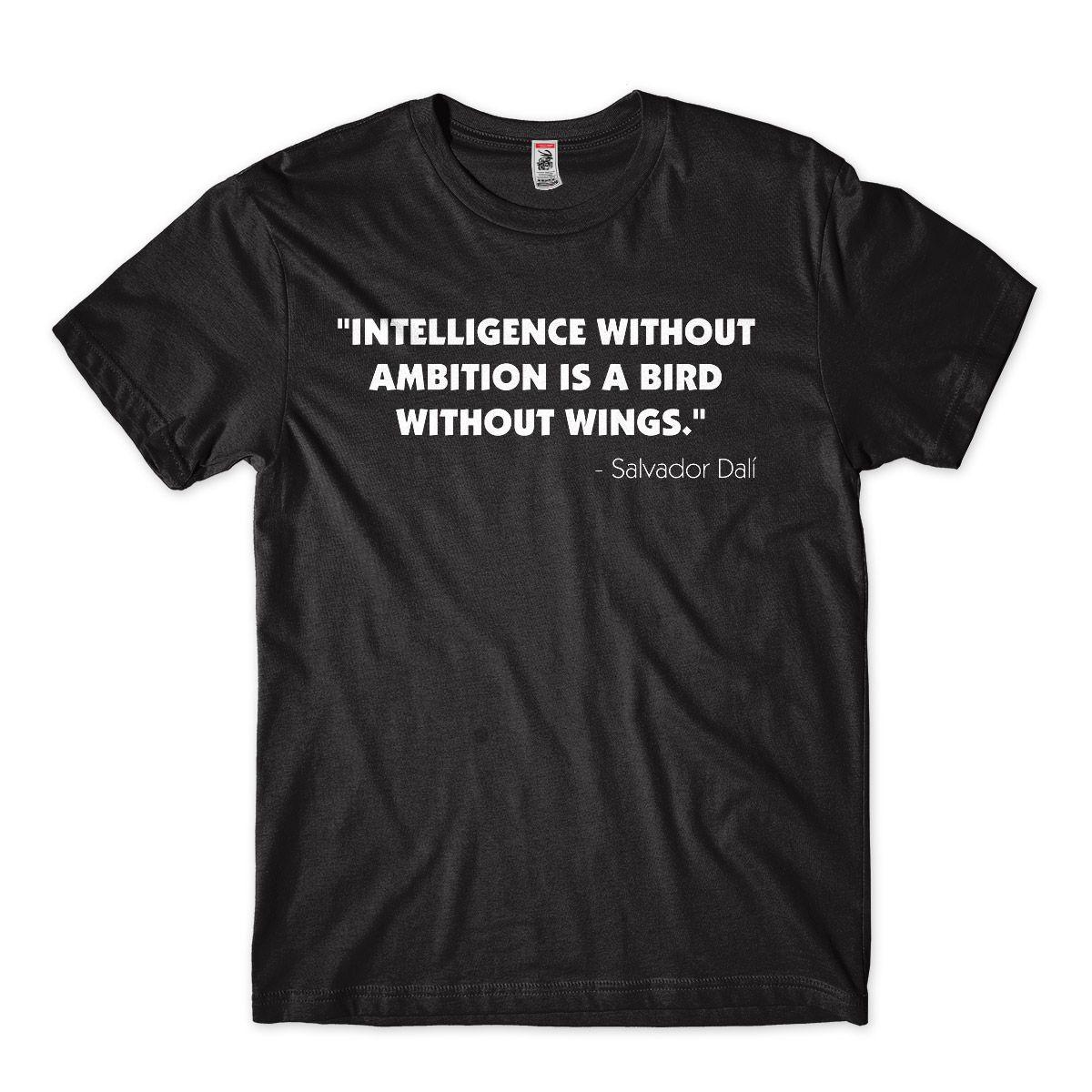 Camisa Dali Citacao Inteligencia sem Asa