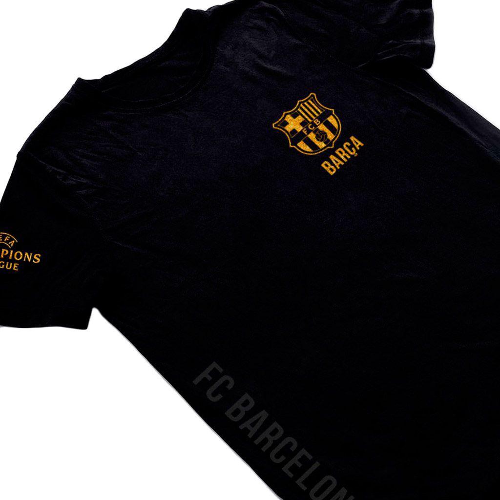 camisa do barcelona Torcedor Masculina tamanho GG Preta