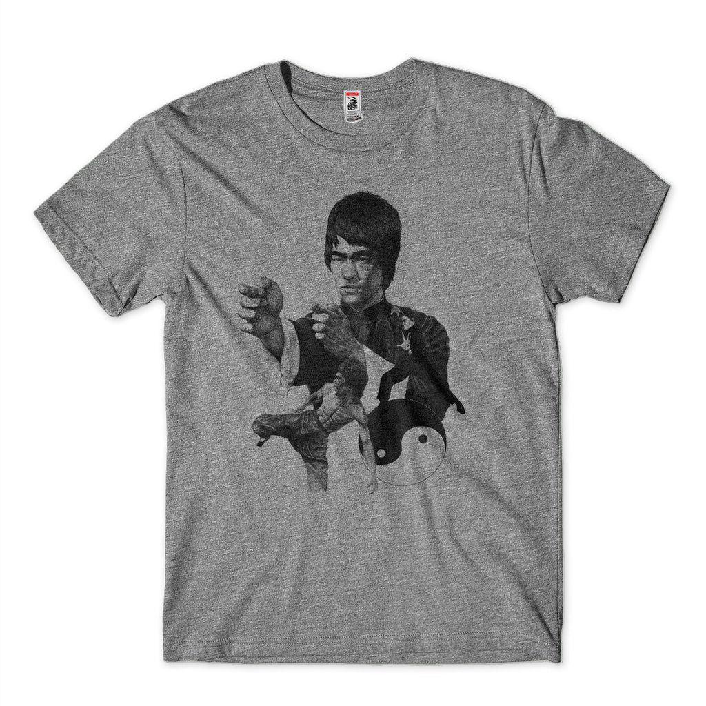 Camisa Do Bruce Lee Masculina tamanho M Cinza
