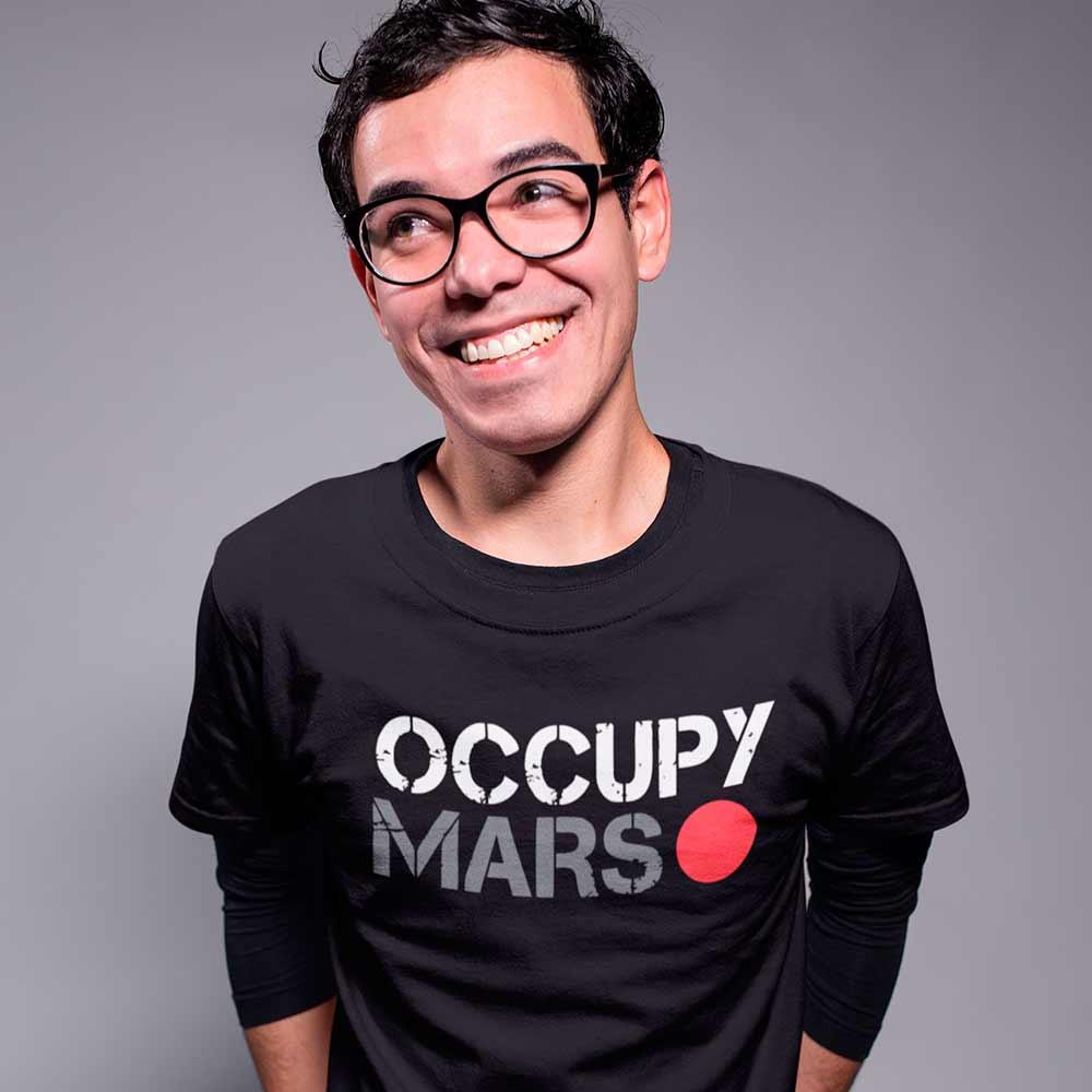 camisa elon musk spacex marte occupy mars
