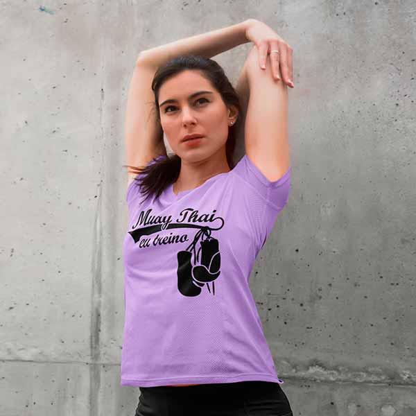 Camisa Eu treino muay thai feminina