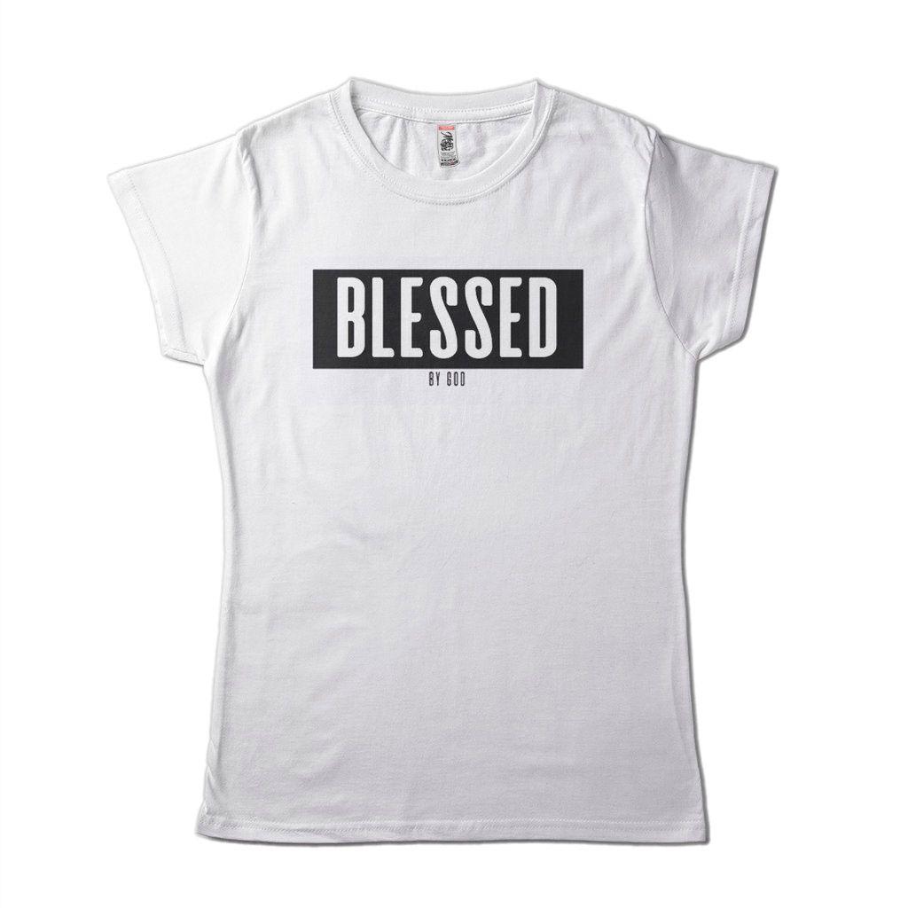 Camisa feminina religiosa abençoada por jesus frases