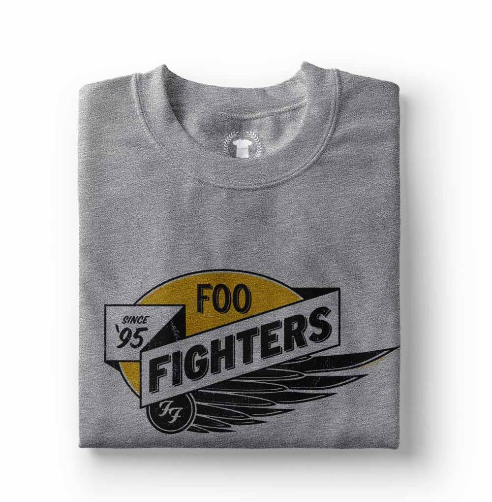 camisa foo fighters cinza estampada
