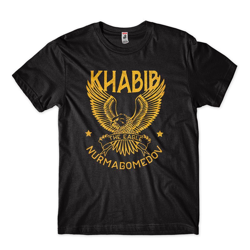 camisa khabib nurmagomedov estampa dourada