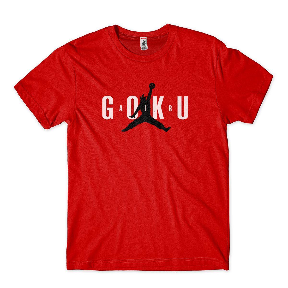 Camisa Masculina Goku Satira Air Jordan Humor Camiseta DBZ