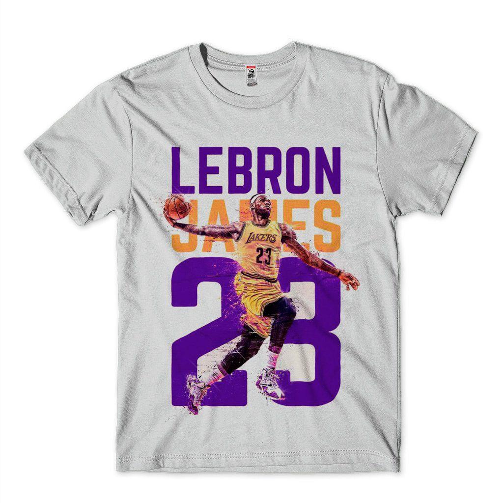 camisa masculina lebron james lakers basquete nba