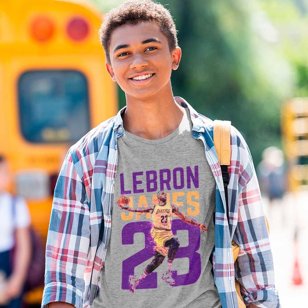 camisa masculina lebron james lakers basquete nba tam GG