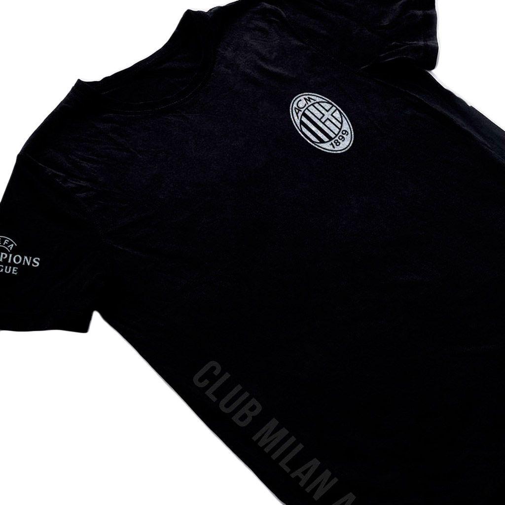 camisa milan preta masculina 2018 uniforme torcedor