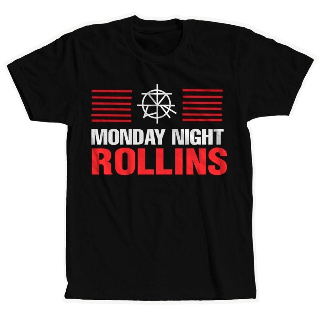 Camisa Monday Night Rollins Wwe Pro-Wrestling Camiseta Blusa