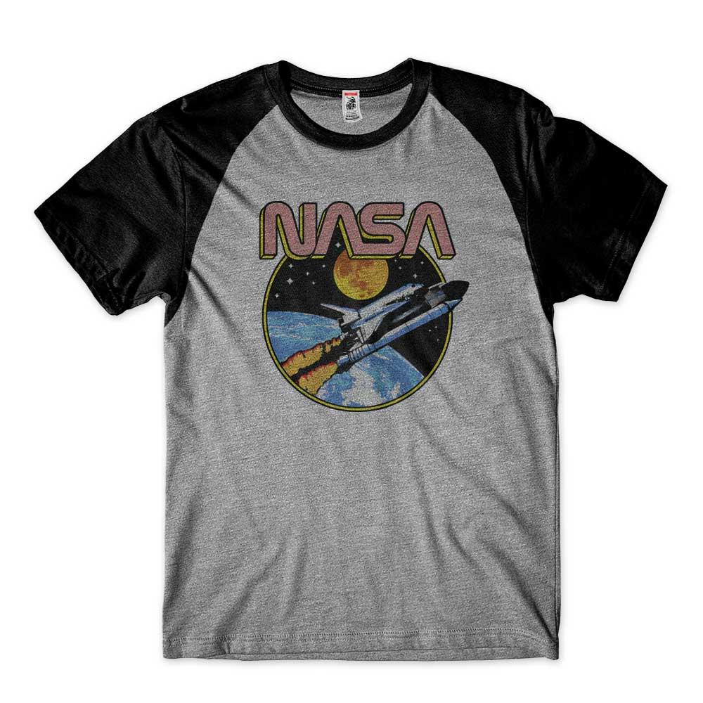 camisa nasa aeronautics space raglan