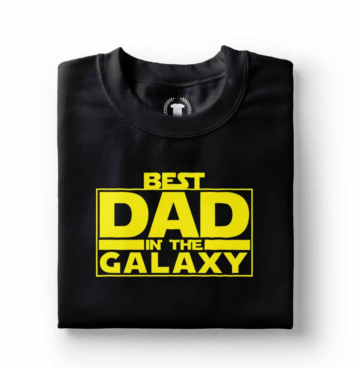 camisa o melhor pai da galaxia preta algodao