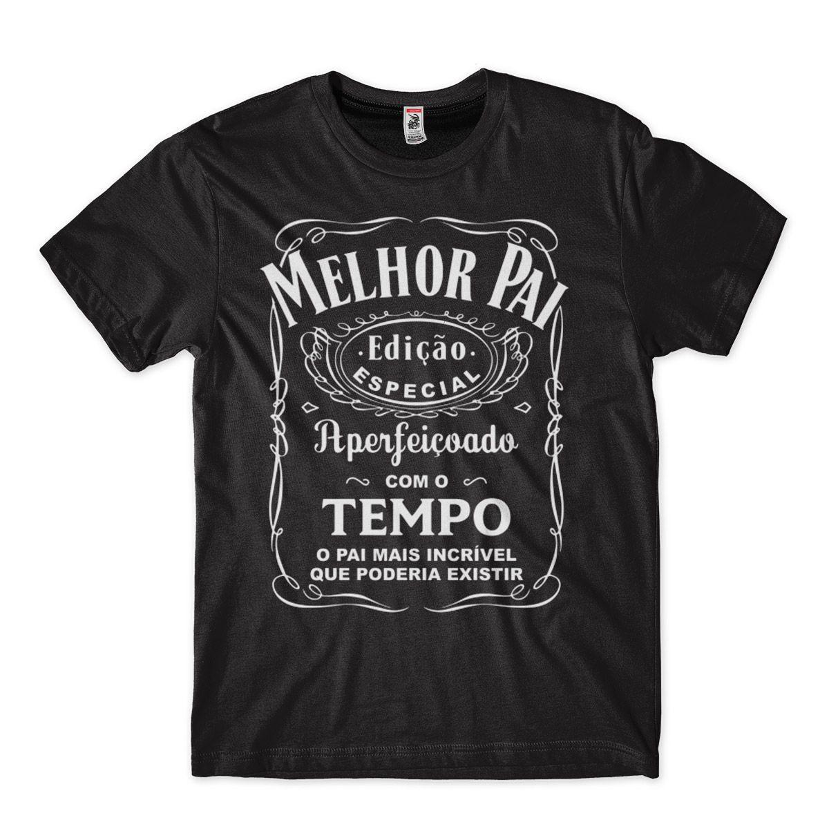 camisa pai o melhor ideia de presente dia dos pais tamanho M