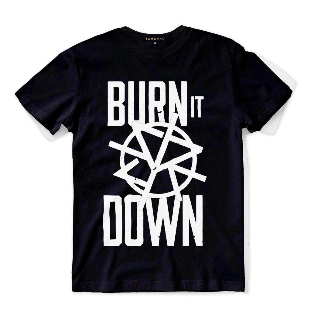 Camisa Seth Rollins Burn It Down Wwe Wrestling Camisas Blusa