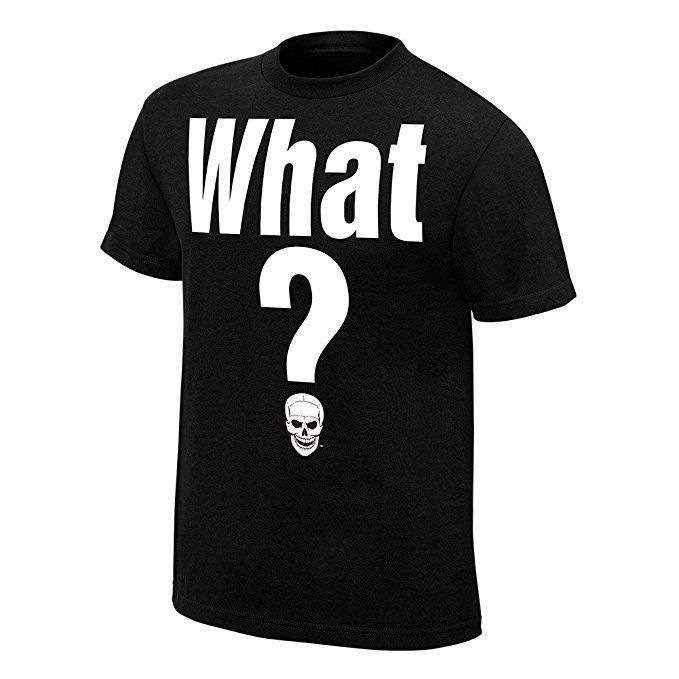Camisa Steve Austin Cold Stone What? Camisa Wwe Preta
