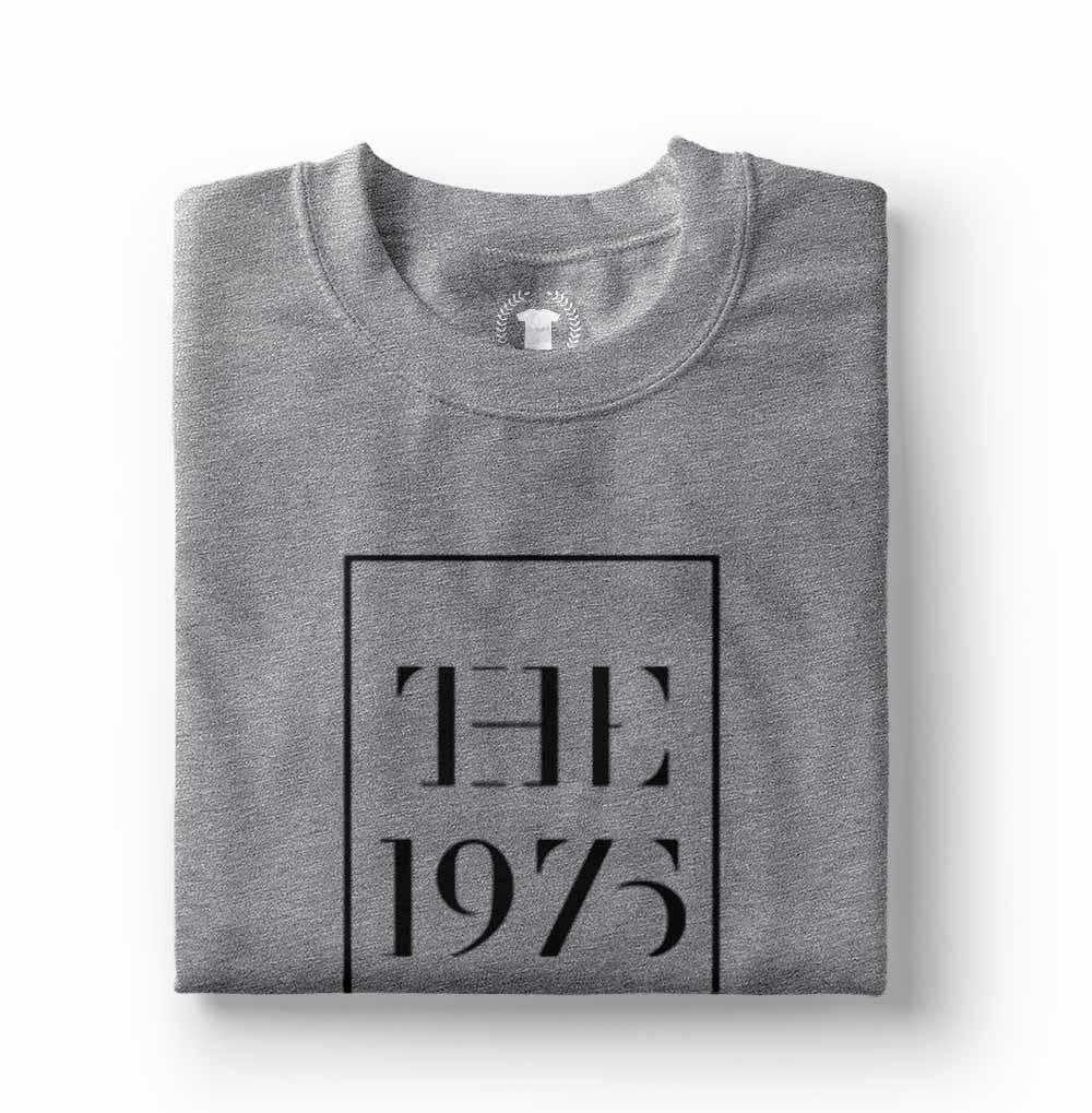 camisa the 1975 camiseta estampada cinza